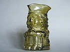 Rare Sage Green Whitefriars Glass 1Pt Toby Jug, Barnaby