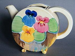 """Rare 1930s Art Deco Clarice Cliff  """"Biarritz"""" Teapot"""