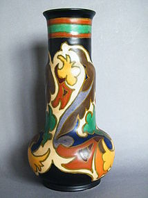 Large Art Deco Gouda Grotius Pattern Vase, made 1932