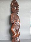 Carved Hardwood Tattooed Maori Plaque circa 1920-1950