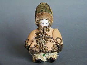 Rare Russian Bisque Porcelain Doll circa 1875-1910