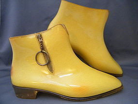 "Rare Pair 1960s Mary Quant  "" Quant Afoot"" Ankle Boots"