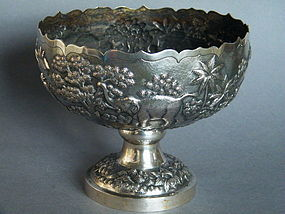 Fine 19th Century Silver Comport,from Burma / Myanmar