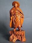 Fine & Rare Huang Yang Mu Carving Hua Mulan circa 1950s