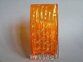 Whitefriars Glass Tangerine Bamboo Vase circa 1969-1974