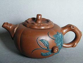 Chinese Yixing Teapot, 'signed' Shi Yu Zhen circa 1970s