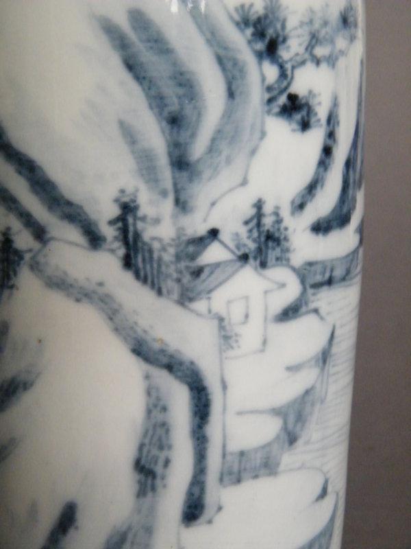 Rare 17th Century Landscape Vase, Kangxi circa 1670-1680