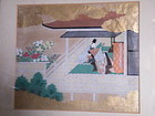 Japanese Painting  'Scene from The Tale of Genji', 19th Century
