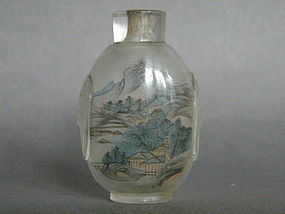 Chinese Inside Painted Glass Snuff Bottle, c 1880-1920