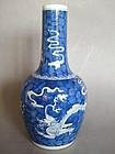 Fine Kangxi Style Chinese Dragon Vase Guangxu 1875-1908