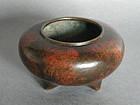 Japanese Bronze Koro (Incense Burner),  19th Century