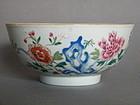 "18th Century Chinese Porcelain ""Famille Rose"" Bowl, circa 1730 -1750"