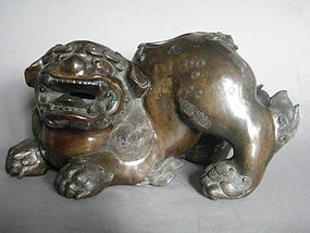 Fine Large Chinese Bronze Lion Censer, Ming Dynasty (1368-1644)