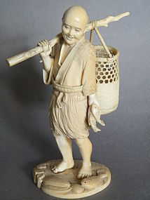 Fine Japanese Carved Ivory Okimono,  Meiji period (1868-1911) *SOLD*