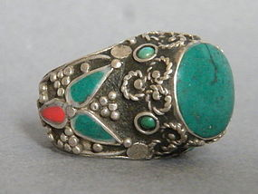 Large Silver Ring from Tibet, circa 1900 - 1950