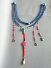 Late Qing Dynasty Peking Glass Chinese Court Necklace