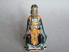 Chinese Glazed Stoneware Figure, Wen Chang, Ming Dynasty (1368 - 1644)