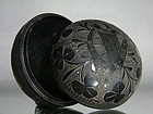 Antique Victorian Carved Bog Oak Box from Ireland, circa 1860 - 1880