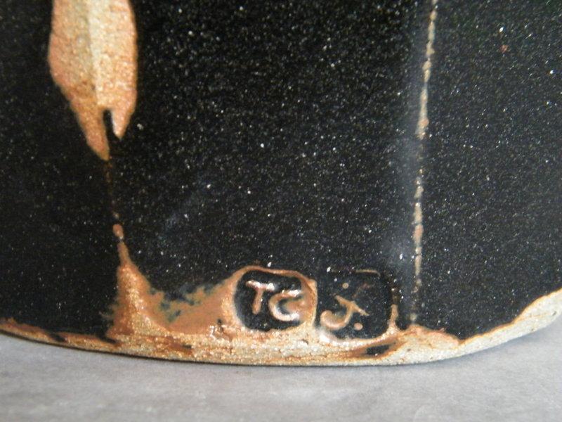Large Black Glazed Leach Studio Pottery Vase by Trevor Corser *SOLD*