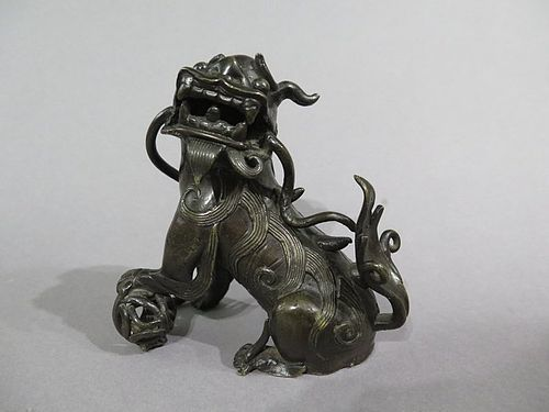 16th / 17th Century Chinese Ming Dynasty Bronze Lion circa 1550 - 1640