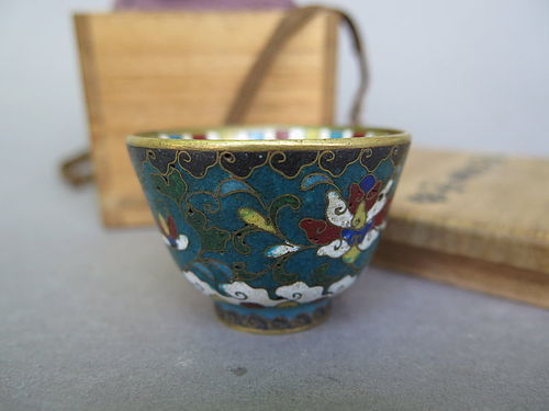Fine & Rare Ming Dynasty Cloisonne Enamel Wine Cup, Wanli (1578-1619)