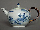 Rare Early 18C Chinese Export Porcelain Teapot Yongzheng 1723-1735