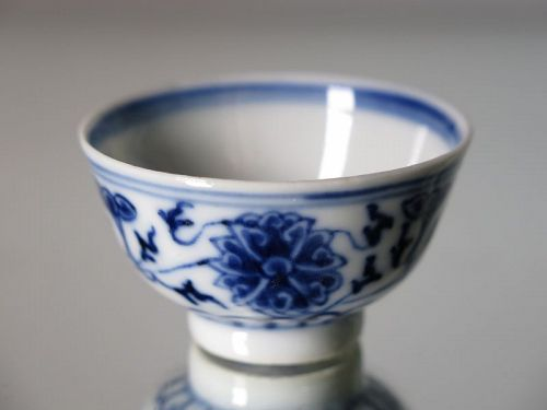 Rare Chinese Porcelain Wine Cup, Guangxu Mark & Period (1875-1908)