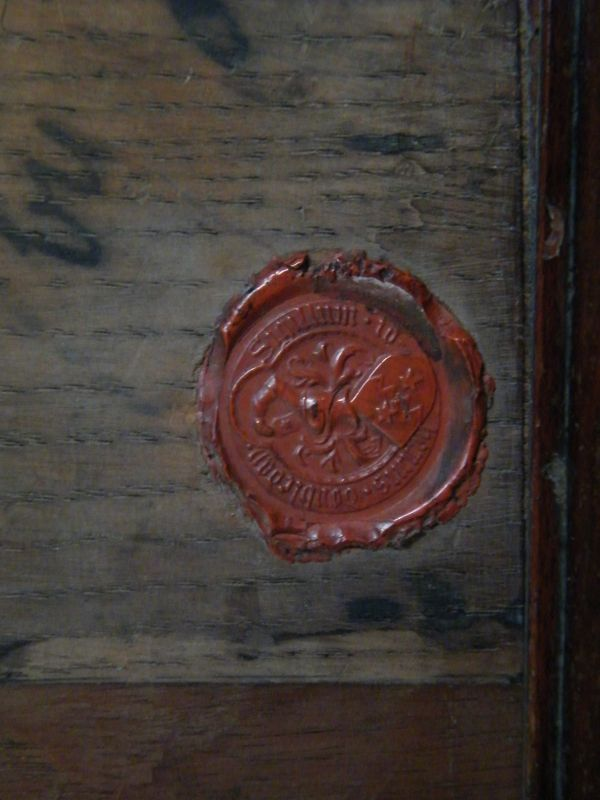 Medieval Oak Panel from under Painted Chamber Palace of Westminster