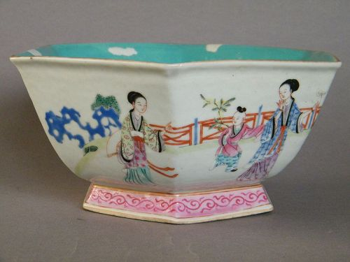 19th Century Chinese Famille Rose Porcelain Bowl, Tongzhi (1862-1874)