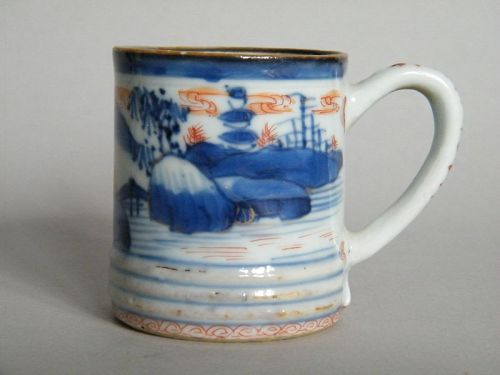 Rare Chinese Export Porcelain Coffee Can, Kangxi Reign (1662-1722)