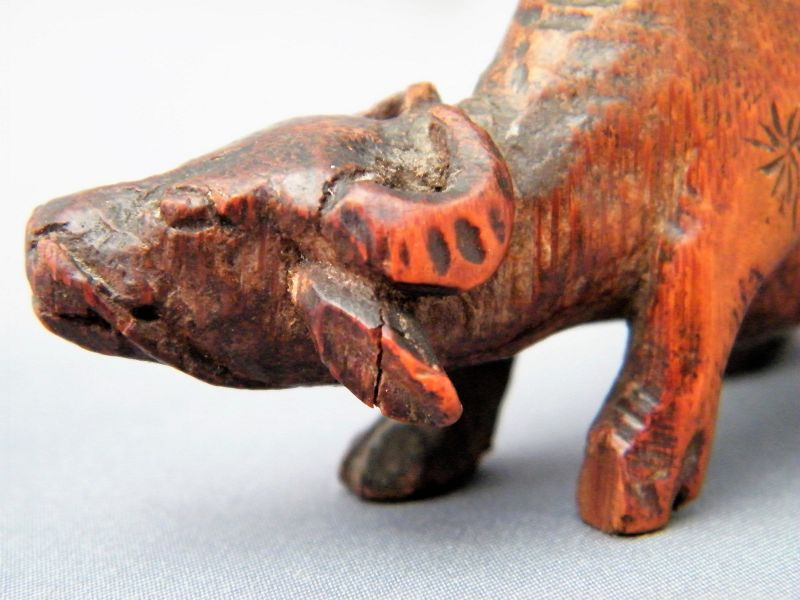 Rare Chinese Carved Bamboo Boy on Buffalo, Ming Dynasty 1368-1644