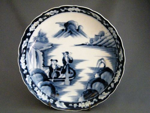 18th Century Arita Porcelain Deep Dish from Japan
