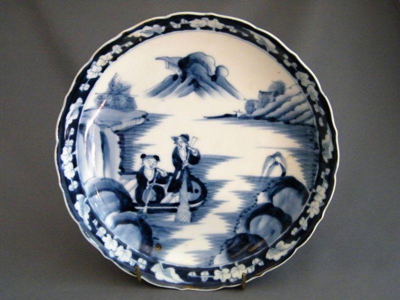 18th Century Arita Porcelain Deep Dish from Japan