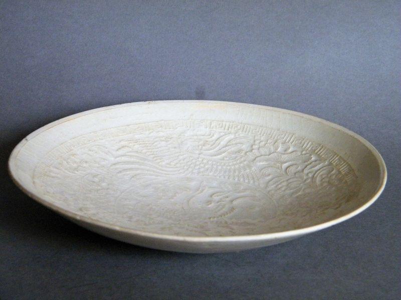 Rare 12th / 13th Century Phoenix & Flower Ding Yao  Dish from China