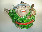 Unusual Japanese Export Teapot and Cover - Meiji