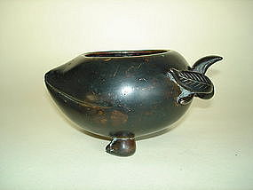 Rare Late Ming Early 17th Cent. Chinese Bronze Waterpot