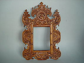 Early 19th Century Carved Chinese Export Mirror Frame