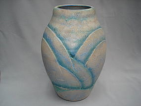 "Very Large 1930s Art Deco Denby ""Danesby Ware"" Vase"