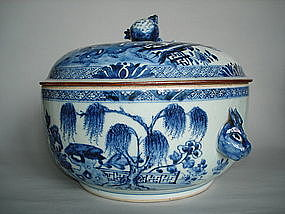 Large Circular Chinese Export Tureen circa 1750
