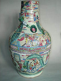 Large and Fine cut down Falangcai Vase - Daoguang