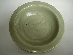 Longquan Green Ware 'Marraige' Dish - Yuan Dynasty