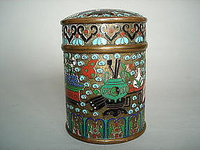 19th Century Chinese Export Cloisonne Tea Cannister