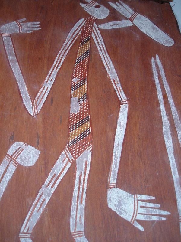 Australian Aboriginal Bark Painting - circa 1980s