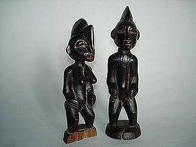 Pair of Yoruba Ibeji Twin Figures - Early 20th Century