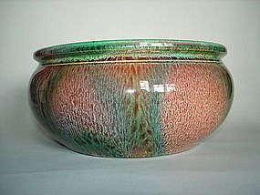 Flambe glazed Bretby Pottery Bowl - c 1900-1910