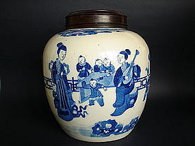 Fine and Large Kangxi Style Chinese Blue and White Jar
