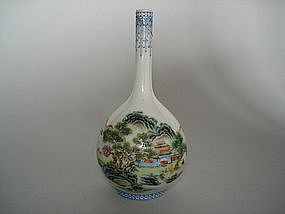 Small 18th Century Style Chinese Bottle Vase - Republic