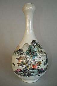 "Small Early 20th Century Chinese ""Garlic necked"" Vase"