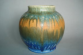 Ruskin Pottery Vase signed  by W Howson-Taylor  - 1930