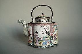 Rare Mid 18th Century Chinese Enamel Wine Ewer Qianlong